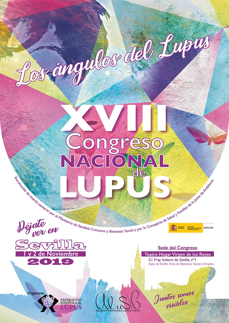 Cartel XVIII Congreso - Los pacientes de lupus se reúnen en el Congreso Nacional del 1 y 2 de noviembre