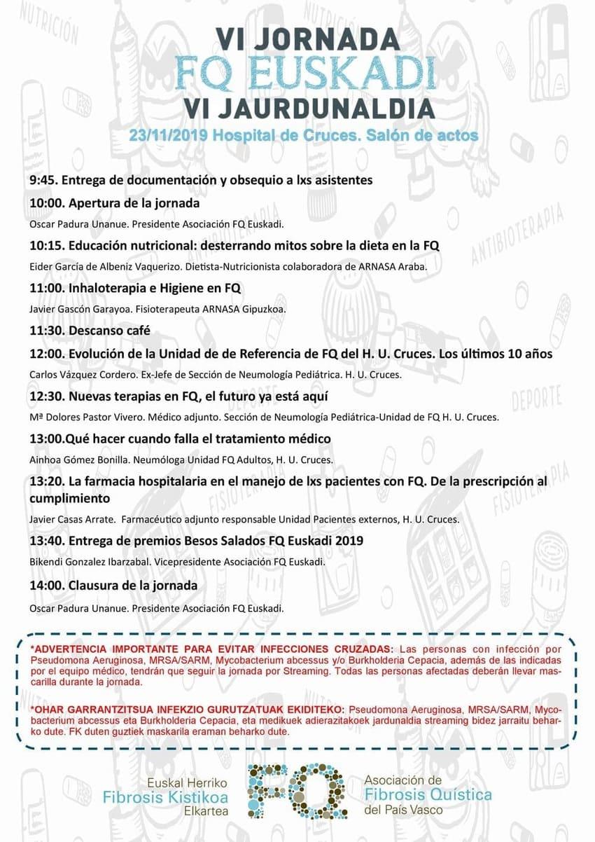Programación FQ - La Asociación de Fibrosis Quística del País Vasco celebrará su VI jornada FQ