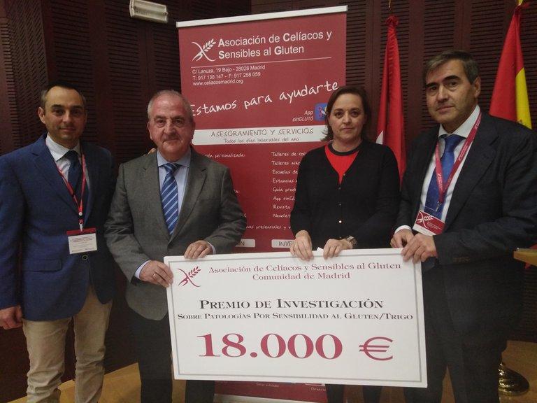 premio celiaquia - Más de 300 profesionales sanitarios acuden al XI Curso de Diagnóstico de Enfermedad Celiaca, organizado por la Asociación de Celiacos y Sensibles al Gluten de Madrid