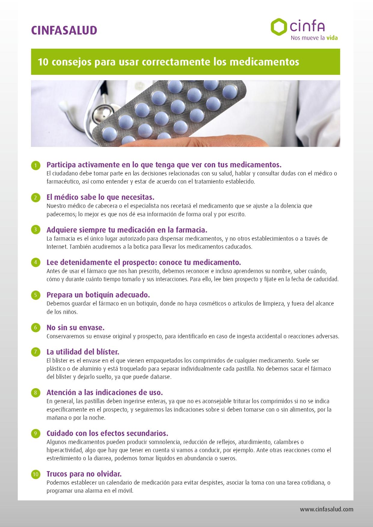 consejos medicamentos cinfasalud page 0001 - 10 consejos para el uso correcto de los medicamentos