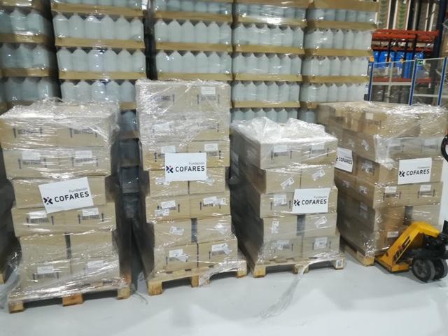cofares militares 3 - La Fundación Cofares dona 6.000 geles de baño a las Fuerzas Armadas en la lucha contra el coronavirus