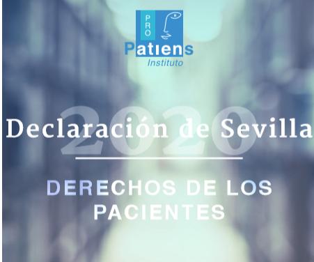 Instituto ProPatiens: «Declaración de Derechos del Paciente de Sevilla 2020»