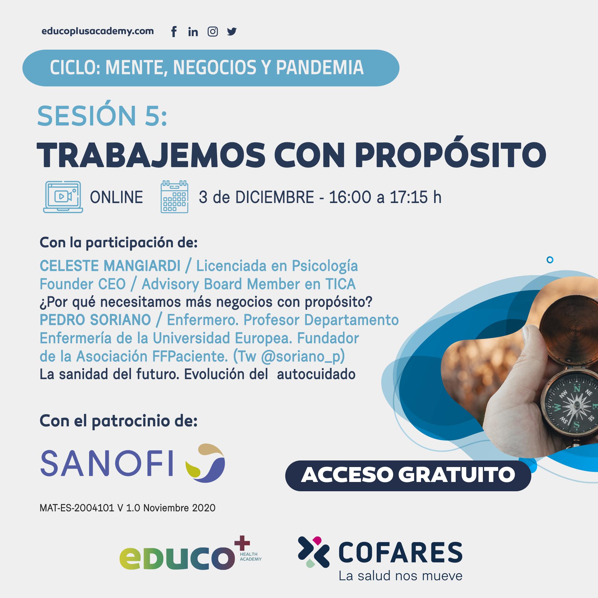 Sanofi Ciclo Desafios S5 3 Diciembre Insta Whats 2 - Nuevos cursos para farmacéuticos de eDuco+ en diciembre