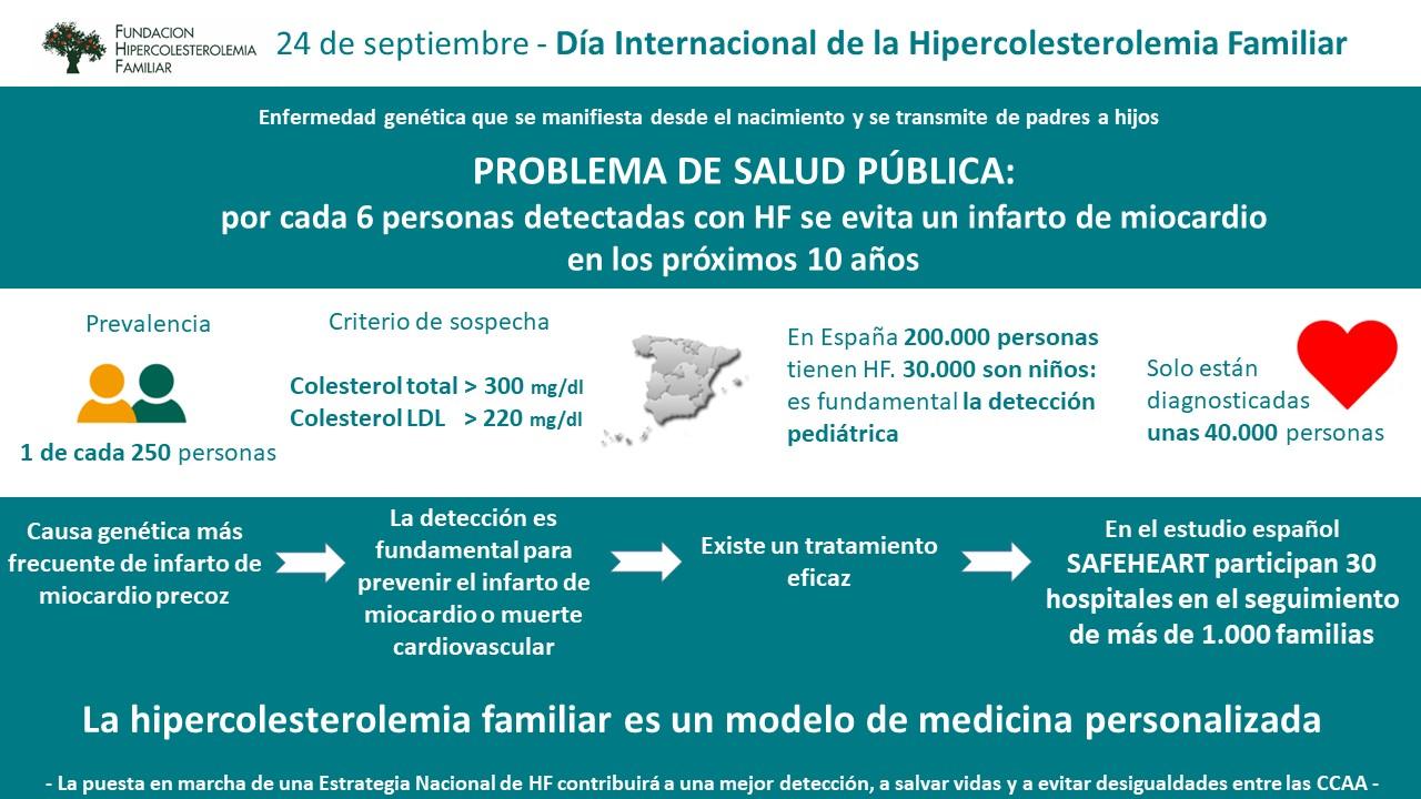 24 sept. Dia Internacional HF - La Fundación Hipercolesterolemia Familiar reivindica una Estrategia Nacional que priorice la detección y elimine desigualdades en su abordaje entre las CCAA